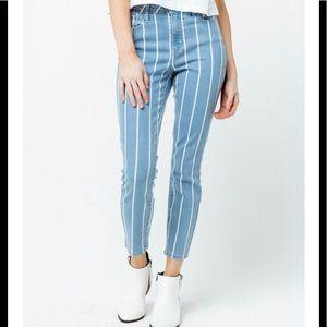 RSQ Cali High Rise Ankle Stripe Jean